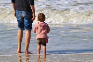 Vater und Tochter im Urlaub