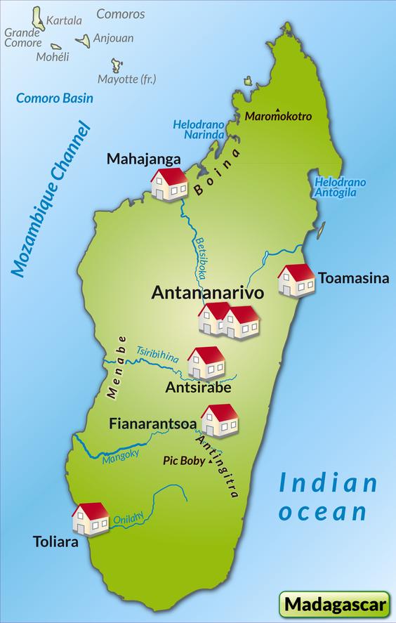 Karte von Madagaskar