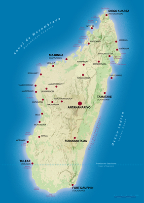 Madagaskar Landkarte